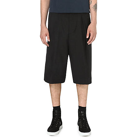 DRIES VAN NOTEN Parge wide-leg shorts (Anthracite