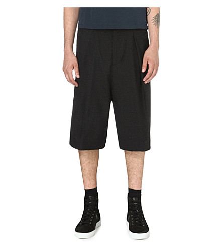 DRIES VAN NOTEN Parge wide-leg shorts (Anthracite