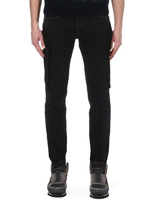 DRIES VAN NOTEN Bondage bands slim-fit tapered jeans