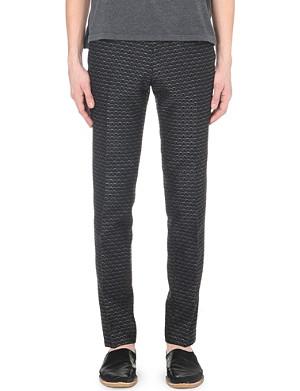 DRIES VAN NOTEN Half-moon jacquard trousers