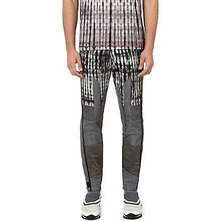 DRIES VAN NOTEN Peter tie-dye slim-fit tapered jeans (Grey