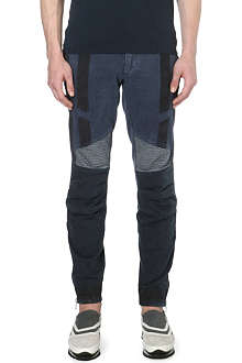 DRIES VAN NOTEN Quilted biker jeans