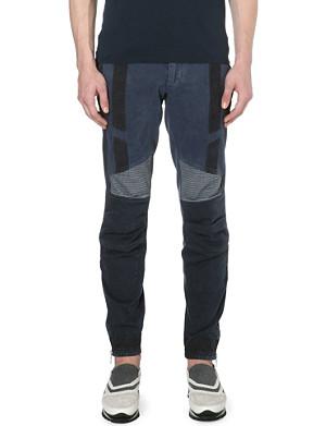 DRIES VAN NOTEN Quilted biker jeans