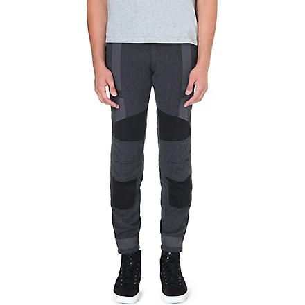 DRIES VAN NOTEN Previs panelled biker trousers (Grey