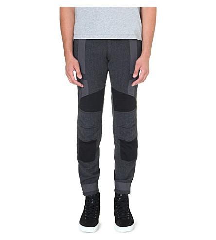 DRIES VAN NOTEN Previs panelled biker trousers (Grey
