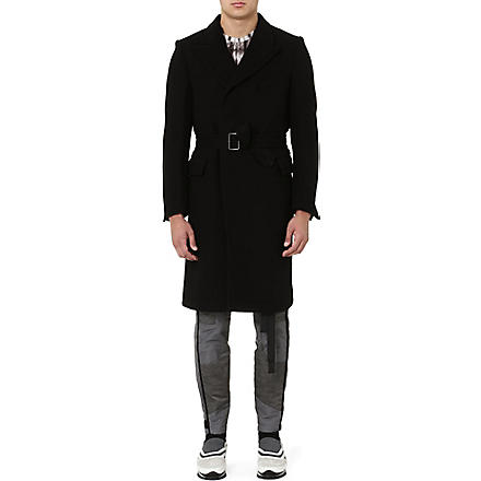 DRIES VAN NOTEN Ritchard belted coat (Black