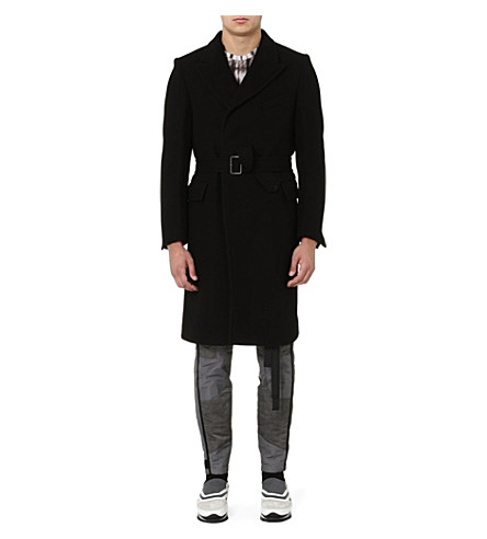 DRIES VAN NOTEN Ritchard belted coat (Black