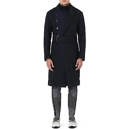 DRIES VAN NOTEN Rodier quilted-insert coat (Navy