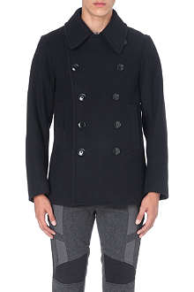 DRIES VAN NOTEN Rodrique zip-detailed wool peacoat