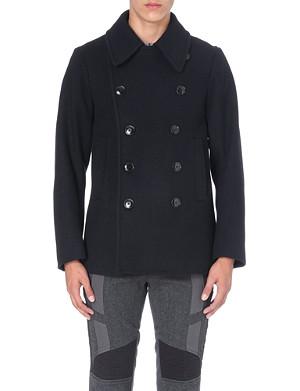 DRIES VAN NOTEN Rodrique zip-detailed wool peacoat