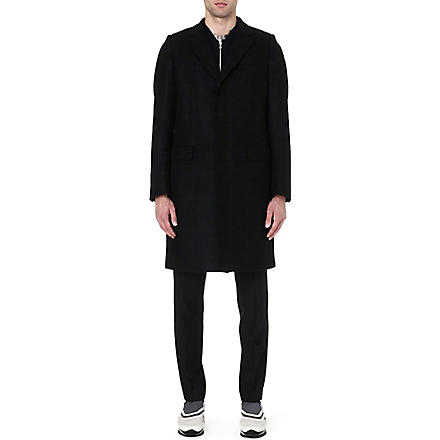DRIES VAN NOTEN Ruben check coat (Purple