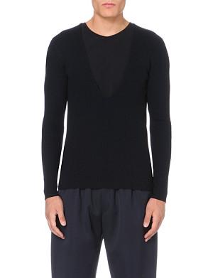 DRIES VAN NOTEN V-neck knitted jumper