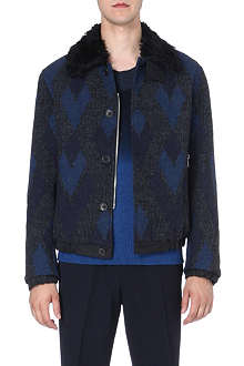 DRIES VAN NOTEN Varda wool-jaquard bomber jacket