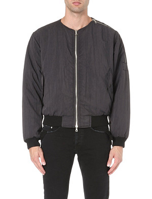 DRIES VAN NOTEN Zip detail bomber jacket