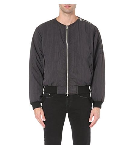 DRIES VAN NOTEN Zip detail bomber jacket (Anthracite