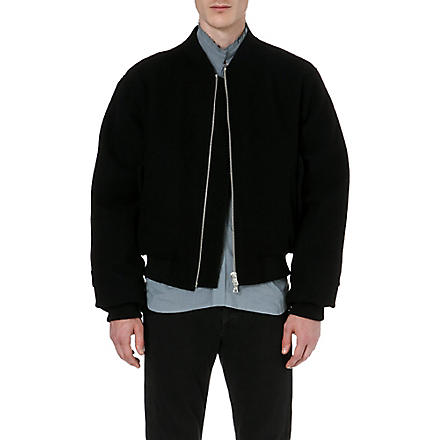 DRIES VAN NOTEN Zip-detail bomber jacket (Black