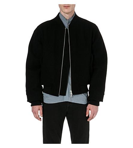 DRIES VAN NOTEN Zip-detail bomber jacket (Black