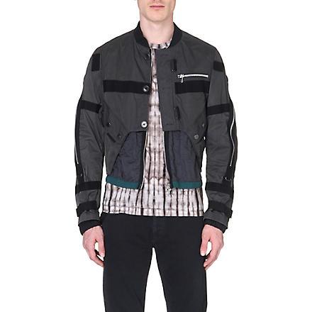 DRIES VAN NOTEN Utility bomber jacket (Grey