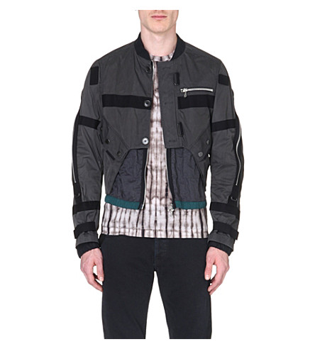 DRIES VAN NOTEN Utility bomber jacket (Grey
