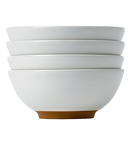 ROYAL DOULTON Set of four Olio white dip dishes 8cm