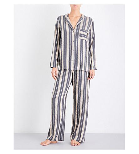 HANRO Enola pyjama set (Lurex+stripe