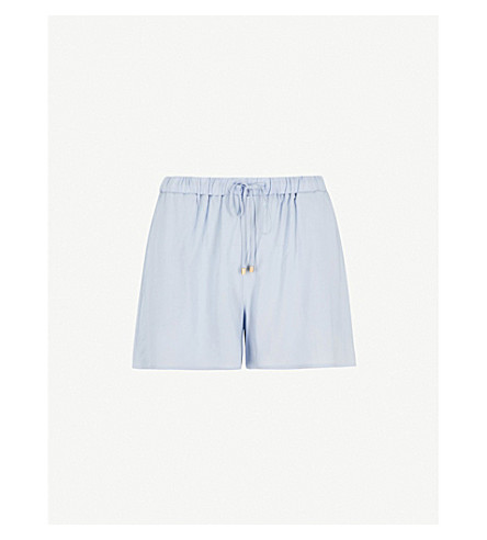 HANRO Relaxed-fit woven pyjama shorts (Clean+blue
