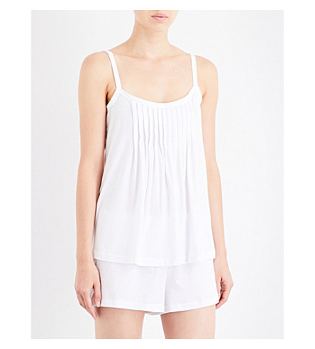 HANRO Juliet cotton-jersey pyjama set (White