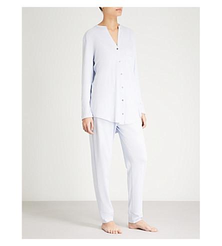 Essence pijama brillo puro de HANRO algodón de azul Conjunto de 5U4TCnq4