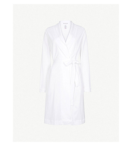 HANRO Classic cotton-jersey dressing gown (White