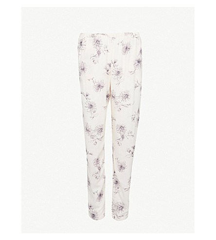 HANRO Camille woven pyjama bottoms (Fragil+flowers