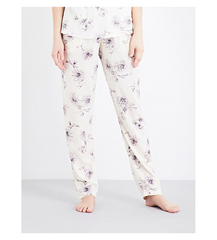 HANRO Camille woven pyjama bottoms (Fragil+flowers