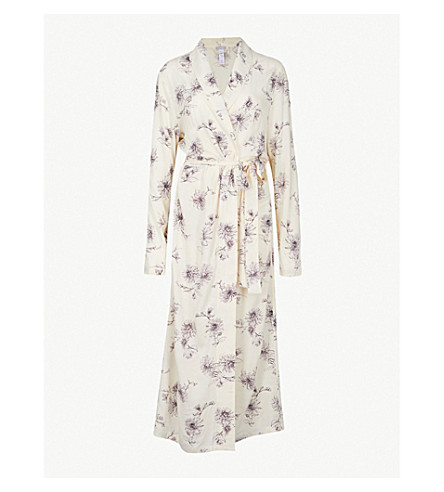 HANRO Camille woven robe (Fragil+flowers