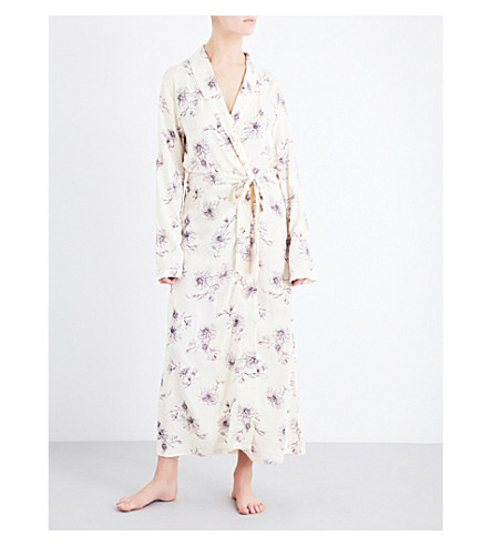 HANRO Camille woven robe (Fragil+flowers