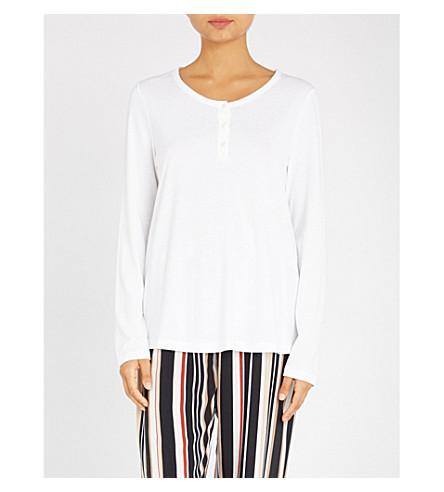 HANRO Sleep & Lounge cotton-blend top (White