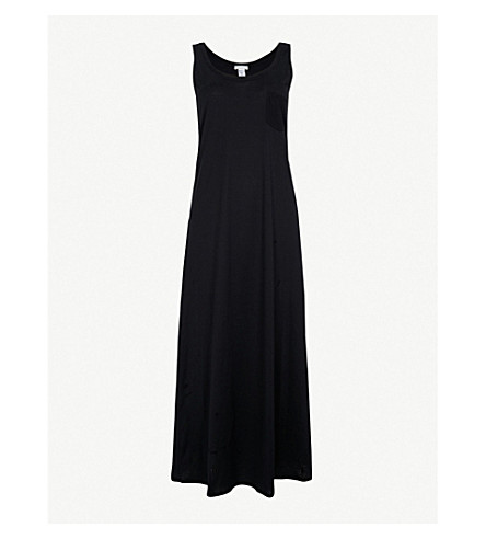 HANRO Deluxe cotton-jersey night dress (Black