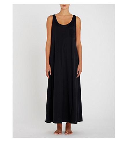 HANRO Deluxe cotton-jersey night dress (Black