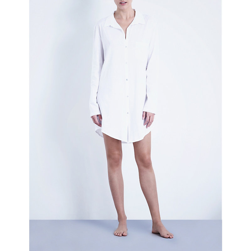 HANRO | Deluxe Cotton Nightshirt | Goxip