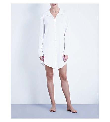 HANRO Deluxe cotton nightshirt (White