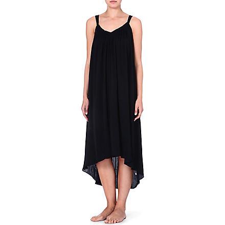 DONNA KARAN Crepe nightdress (Black