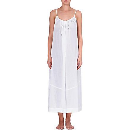 DONNA KARAN Batiste gown (White