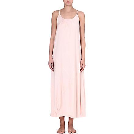 DONNA KARAN Pima cotton gown (Bisque