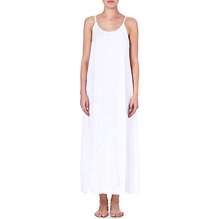 DONNA KARAN Pima cotton gown (White