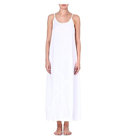 DONNA KARAN Pima cotton gown (White