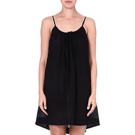 DONNA KARAN Cotton chemise (Black