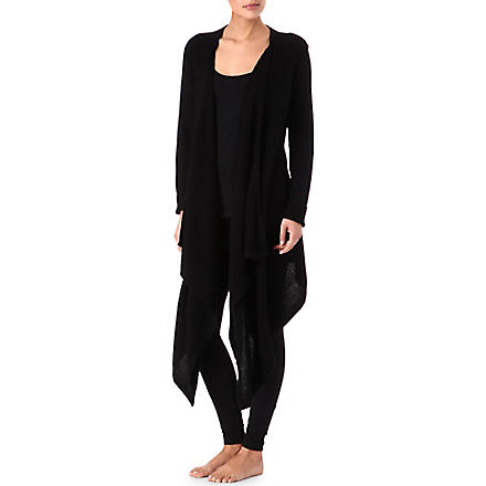 DONNA KARAN Wool and cashmere cardigan (Black
