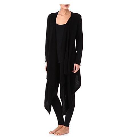 DONNA KARAN Wool and cashmere cardigan (Black