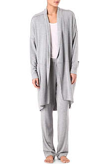 DONNA KARAN French terry robe