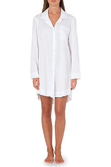 DONNA KARAN Cotton sateen sleep shirt