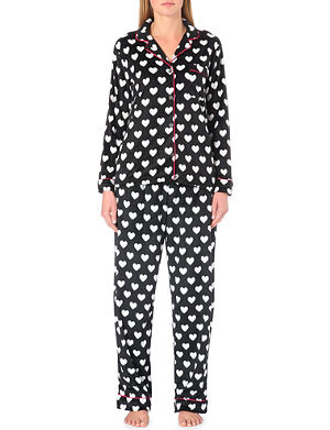 DKNY Checked flannel pyjama set