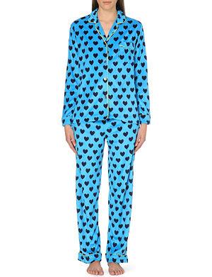 DKNY Checked flannel pyjama set